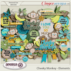Cheeky Monkey - Elements by Aprilisa Designs