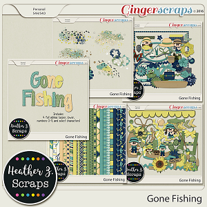 Gone Fishing BUNDLE by Heather Z Scraps