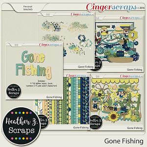 Gone Fishing BUNDLE by Heather Z Scraps