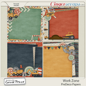 Retiring Soon - Work Zone - PreDeco Paper Pack