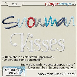 Snowman Kisses {Alphas} by Day Dreams 'n Designs