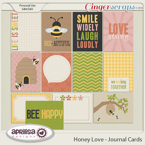 Honey Love - Journal Cards