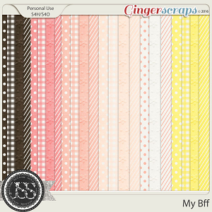 My Bff  Patterned Papers
