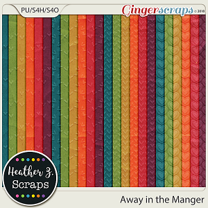 Away in a Manger EMBOSSED PAPERS by Heather Z Scraps