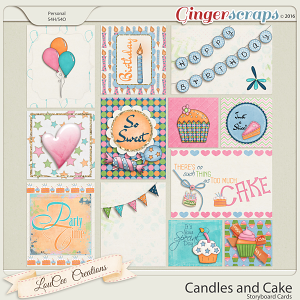 Candles and Cake Journal Cards