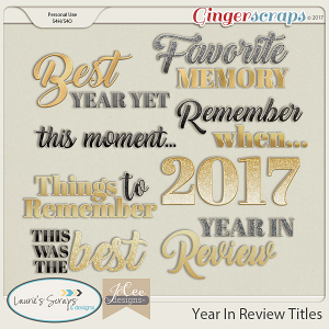 Year in Review Titles by JoCee Designs and Laurie's' Scraps and Designs