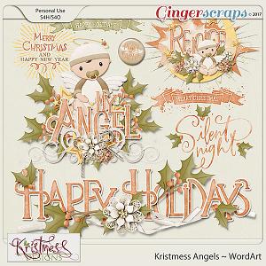 Kristmess Angels WordArt