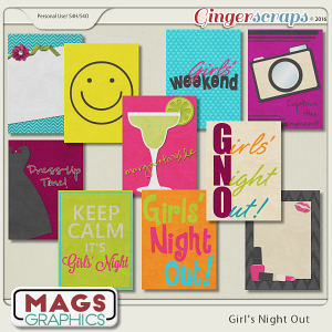Girls' Night Out JOURNAL CARDS