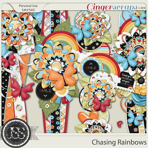 Chasing Rainbows Page Borders