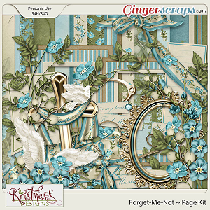 Forget-Me-Not Page Kit