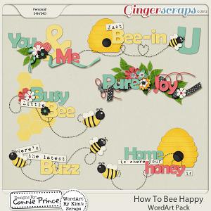 How To Bee Happy - WordArt