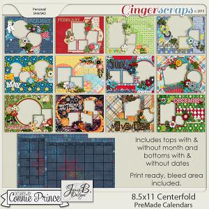 2016 8.5 x 11 PreMade Centerfold Calendars