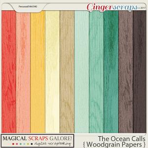 The Ocean Calls (woodgrain papers)