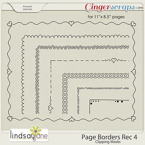 Page Borders Rec 4 by Lindsay Jane