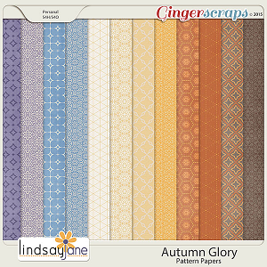 Autumn Glory Pattern Papers by Lindsay Jane