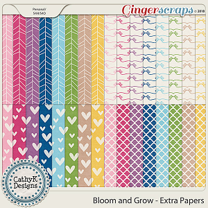 Bloom and Grow - Extra Papers by CathyK Designs