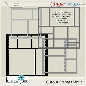Cutout Frames Mix 2 by Lindsay Jane