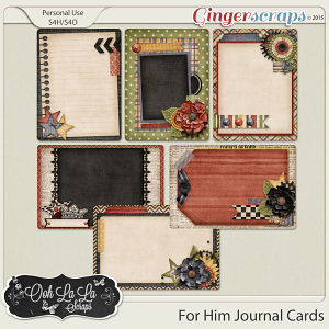 For Him Journal and Pocket Scrapbooking Cards