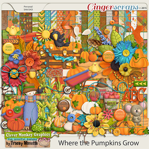 Where the Pumpkins Grow by Clever Monkey Graphics