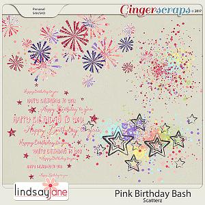 Pink Birthday Bash Scatterz by Lindsay Jane