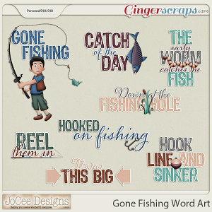 Gone Fishing Word Art by JoCee Designs