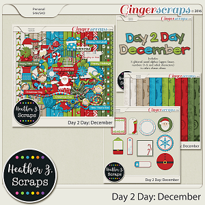 Day 2 Day: December BUNDLE by Heather Z Scraps