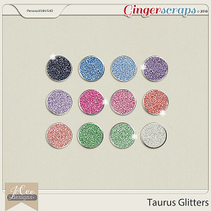 Taurus Glitters by JoCee Designs