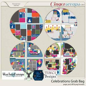 Celebrations GB with Dear Friends Designs, Blue Heart Scraps, Miss Fish Templates & Tinci Designs