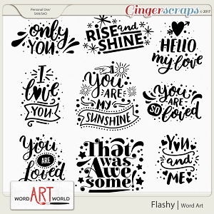 Flashy Word Art