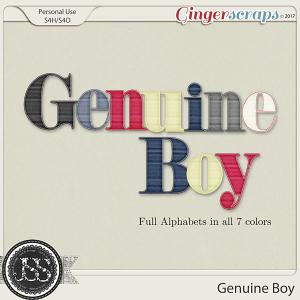Genuine Boy Alphabets