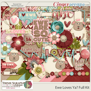 Ewe Loves Ya? Full Kit by Trixie Scraps Designs