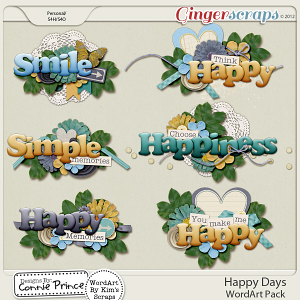 Happy Days - Word Art