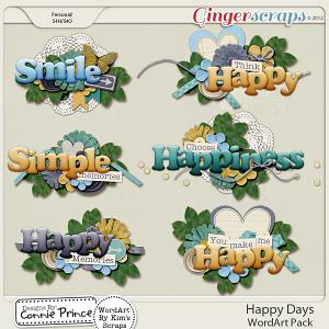Retiring Soon - Happy Days - Word Art