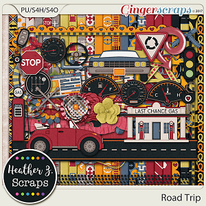 Road Trip KIT by Heather Z Scraps