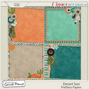 Desert Sun - PreDeco Papers
