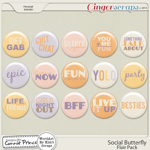 Retiring Soon - Social Butterfly - Flair Pack