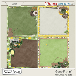 Retiring Soon - Gone Fishin' - PreDeco Papers