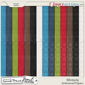 Winterly - Embossed Papers