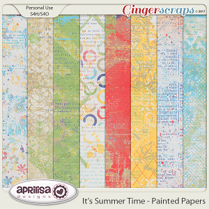 It's Summer Time - Painted Papers