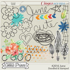 #2016 June - Doodles & Stamps