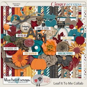 Leaf It To Me Collection By Luv Ewe Designs and Blue Heart Scraps