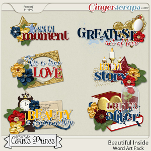 Beautiful Inside - WordArt Pack