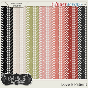 Love Is Patient Pattern Papers