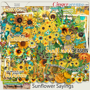 Sunflower Sayings by Clever Monkey Graphics