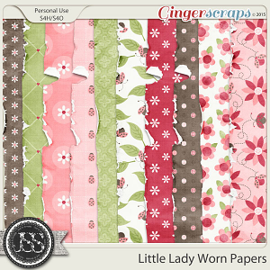 Little Lady Worn and Torn Papers