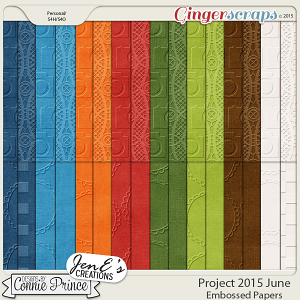 Project 2015 June - Embossed Papers