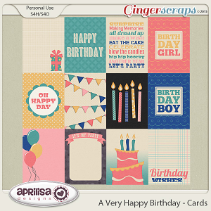 A Very Happy Birthday - Cards