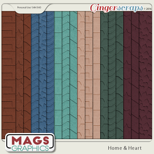 Home & Heart EMBOSSED PAPER by MagsGraphics