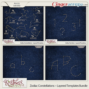 CU Zodiac Constellations Layered Templates Bundle