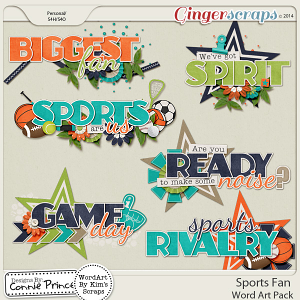 Sports Fan - Word Art